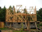 Строительство каркасных коттеджей – технологии каркасного строительства.